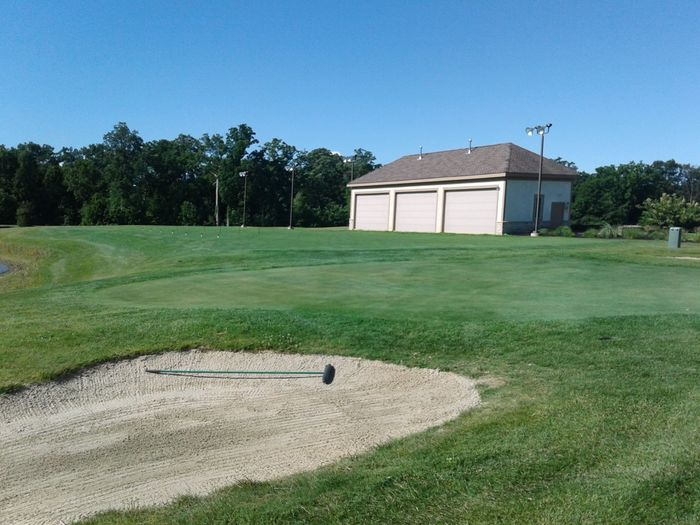 View of the practice facility at Delaware Golf Club