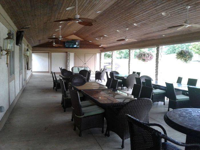 Interior shot of the banquet facility at Delaware Golf Club